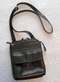 fossil black leather purse used