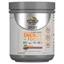 <b>Sport Organic Plant-Based Energy</b> - Sugar Free Blackberry Cherry ...