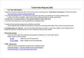 19 Credit Note Templates Word Excel Pdf Free Premium Templates