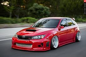 subaru wrx hatchback modified. 2009 subaru sti hargespeed front lip wrx hatchback modified
