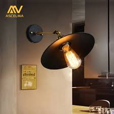 Beste Koop Amerikaanse Loft Industri Eumlle Muur Lampen Vintage