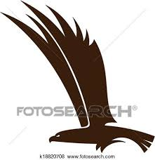 hawk wing clipart. Contemporary Clipart Side View Silhouette Of A Flying Falcon Or Hawk With Its Powerful Wings  Raised For Mascot Tattoo Design For Hawk Wing Clipart D
