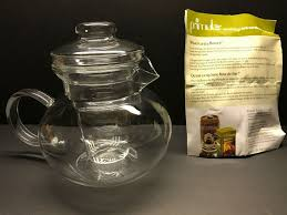 primula 40 oz classic blossom glass teapot with infuser loose tea 3 piece set 807030492535