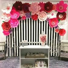 Paper Flower Archway Paper Florals Wall Display Wedding Flower Backdrop Ceremony Archway Set Of 30
