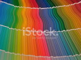 Full Color Chart Full Rainbow Of Paint Color Chart Fan Deck Stock Photos