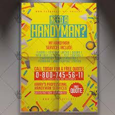 free handyman flyer template handyman flyer community psd template