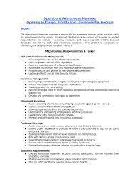 Resume Warehouse Job Description Sidemcicek Com