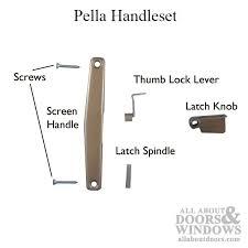 pella handle set patio screen door copperite choose handing pella patio door handle set