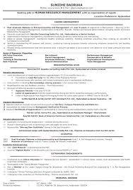 Simple Best Resume Format Hr Recruiter HR Resume Format HR Sample Resume HR  CV Samples Naukri Com