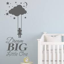 hot ing dream big little one baby room wall decals nursery wall sticker decals home decor removable vinyl wall decals