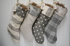 gray christmas stockings. Plain Stockings Set Of 4 Christmas Stockings In Grey And White With Embroidered Name Tags  By TurnbowDesigns On Intended Gray Stockings N