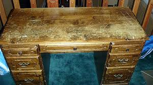 scratched desk before using chalk paint chalk painting furniture ideas