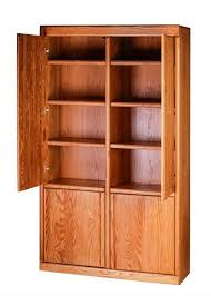 office bookcase with doors. Forest Designs Bullnose Bookcase W/ Full Wood Doors: 48W X 18D Choose Your Height Office With Doors