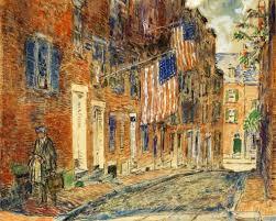 a corn street boston 1919 childe hassam