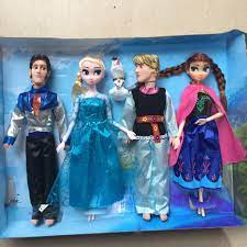 Bộ búp bê 5 nhân vật Frozen : Elsa - Anna- Olaf- Kristoff - Hans