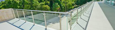our premium glass railings for commercial and residential properties