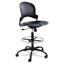 com safco s 3386bl zippi plastic extended height chair black drafting chairs office s