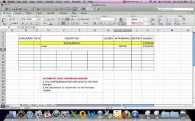 excel checkbook formula automated excel checkbook register the magic formula youtube