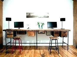 two person desk home office. Two Person Desk Home Office 2 Desks For