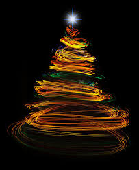 Download Yellow Christmas Tree Light Painting Stock Photo - Image: 48112514