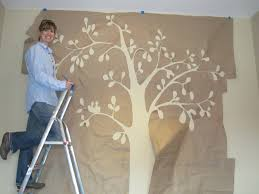 wall art stencils tree with a large paper to manufacture design