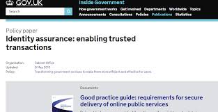 - Service Maintaining Government Digital Identity Good Assurance Practice