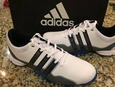 adidas 600001. adidas men`s powerband tour golf shoes size 12 us white/silver/blue f33368 600001