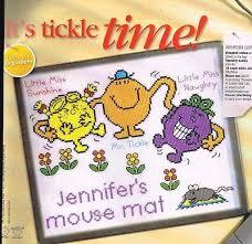 Little Miss Chart Bothy Threads Mr Men Little Miss Mousemat Its Tickle Time