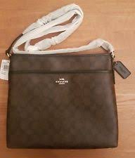 BNWT Coach F58297 Signature Brown File   Cross Body Bag – RRP £325