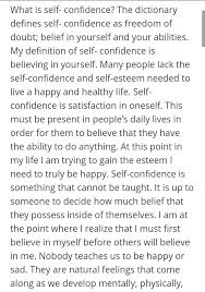 Essay On Self Confidence Essay On Self Confidence Is The Breath Of Life Brainly In
