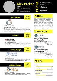 Modern Resume Color Modern Black And Yellow Color Side Layout Resume Vista Resume