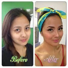 before and after dinair airbrush makeup