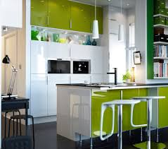 entrancing kitchen and dining room ideas using cabinet small space exciting green kitchen decoration using