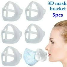 <b>5PCS 3D Face Mask</b> Mouth Cover Bracket Inner Stand Holder ...