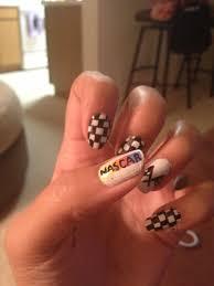 Nascar Nail Art Designs Nascar Nails Via Nascars Pinterest Okay This Is For Me