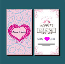 wedding card design template free vector download (22,397 free Wedding Card Vector Graphics Free Download wedding card template with hearts birds curved pattern Vector Background Free Download