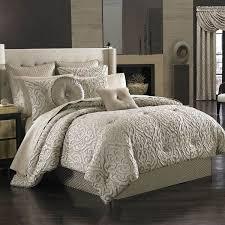 j queen new york astoria comforter set california king taupe scroll