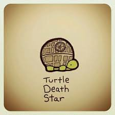 Tortuga <b>estrella</b> de la muerte | Turtle drawing, <b>Cute</b> turtle drawings ...