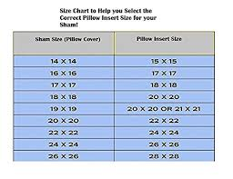 Pillow Insert Size Chart Europhoria Pillows Euro Pillows 26x26 Decorative Square Pillow Inserts For Shams Hypoallergenic Down Alternative Fill 100 Made In The Usa By 1