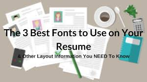 Best Fonts To Use On Your Resume