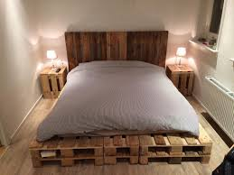 pallet king size bed king size pallet bed and headboard diy rustic industrial home design