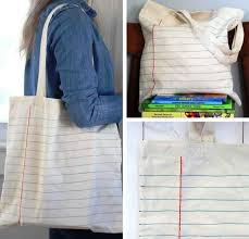diy notebook canvas tote bag diy back to school supplies back to school tips