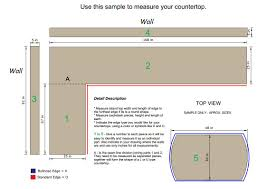 Measuring For Granite Kitchen Countertop Countertop Measurements