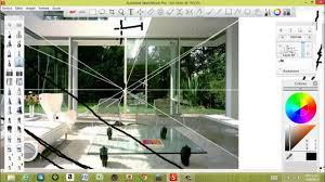 Sketchbook Pro Interior Design Tutorial Perspectiva Interior Youtube