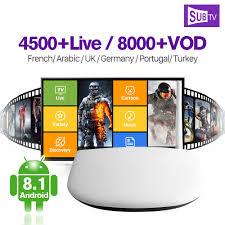 4K <b>IPTV</b> France <b>Arabic Q1304</b> TV Box Android 8.1 TV Receiver With ...