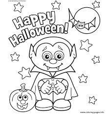 Small Picture Happy Halloween Coloring Pages Printable