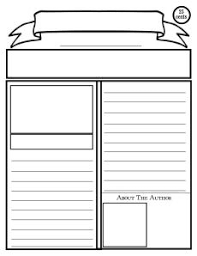 Basic Newspaper Template Blank Newspaper Template For Kids Printable Places To Visit
