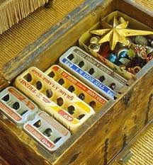 It's officially time for the tinsel to come down. Here's an ingenious way  to store Christmas ornaments. Use egg cartons!