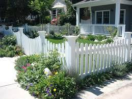 front yard fence. White Backyard Fence Image Of Front Yard Ideas Cottage Picket .