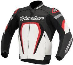 alpinestars motegi perforated leather jacket clothing jackets motorcycle black white red alpinestars tech